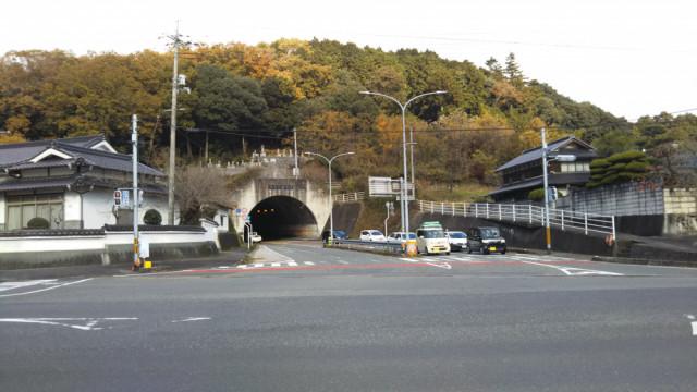 明見トンネルからJR勝間田駅へ
