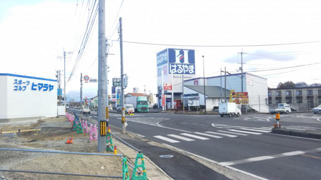 新河辺交差点(ヒマラヤ)を右折